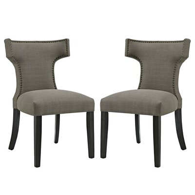 Curve Upholstered Dining Chair Upholstery: Granite