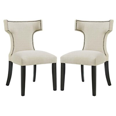 Curve Side Chair Upholstery: Beige