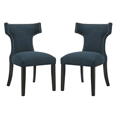 Curve Side Chair Upholstery: Azure