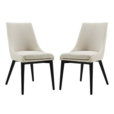 Carlton Dining Side Chair Upholstery: Beige
