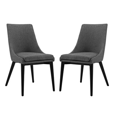 Carlton Dining Side Chair Upholstery: Gray
