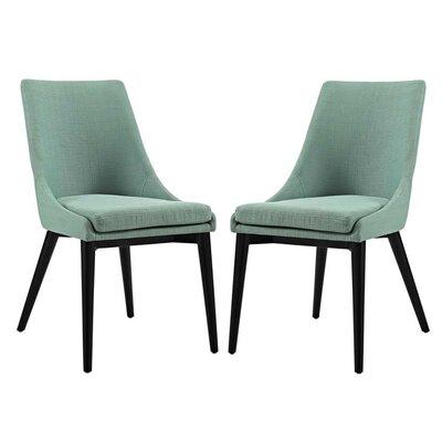 Carlton Dining Side Chair Upholstery: Laguna