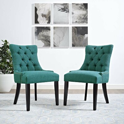 Burnett Dining Side Chair Upholstery: Teal