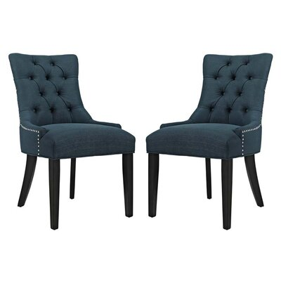 Burnett Dining Side Chair Upholstery: Azure