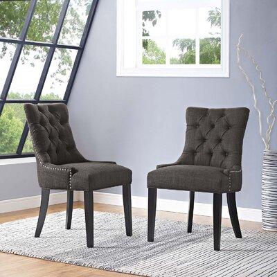 Burnett Dining Side Chair Upholstery: Brown