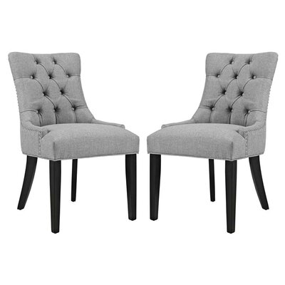 Burnett Dining Side Chair Upholstery: Light Gray