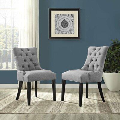 Burnett Dining Side Chair Upholstery: Light Gray