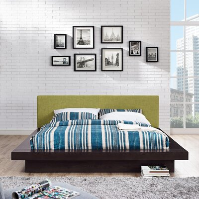 Rennan Queen Upholstered Platform Bed Color: Cappuccino Green