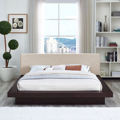 Rennan Queen Upholstered Platform Bed Color: Cappuccino Beige