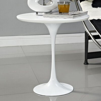 Julien End Table Color: White
