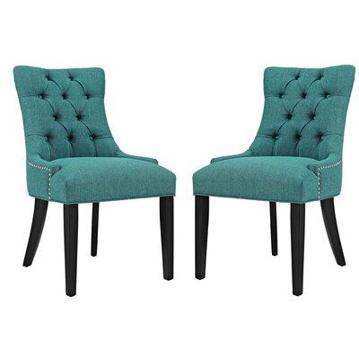 Burnett Dining Side Chair Upholstery: Teal