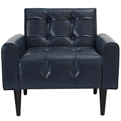 Hooper Vinyl Accent Club Chair Upholstery: Blue