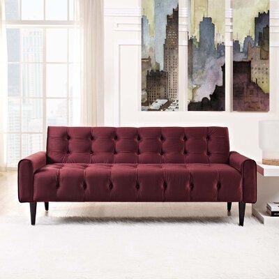 Hooper Sofa Upholstery: Maroon