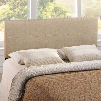 Joey Queen Upholstered Panel Headboard Upholstery: Beige