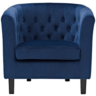 Ziaa Chesterfield Chair Upholstery: Navy