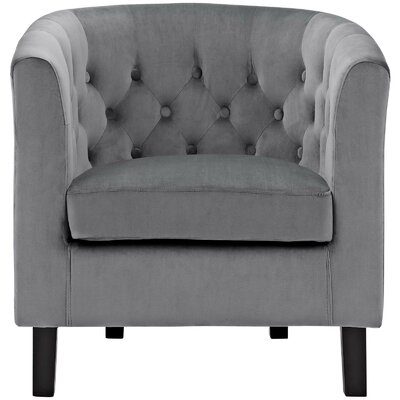 Birnbaum Chesterfield Chair Upholstery: Gray