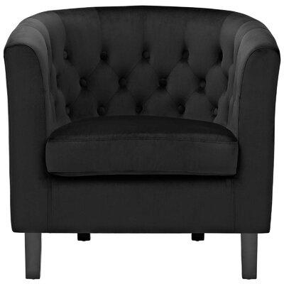 Birnbaum Chesterfield Chair Upholstery: Black