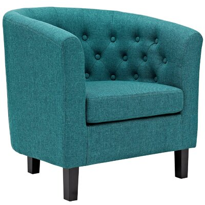 Birnbaum Chesterfield Chair Upholstery: Teal