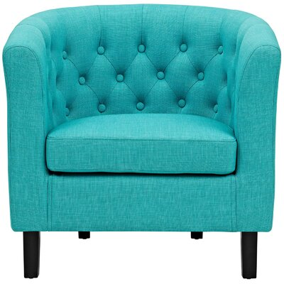 Birnbaum Chesterfield Chair Upholstery: Pure Water