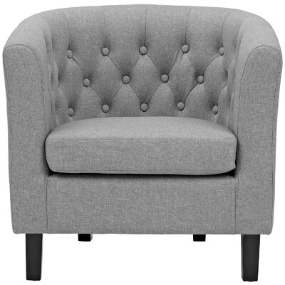 Birnbaum Chesterfield Chair Upholstery: Light Gray