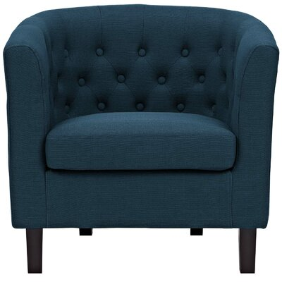 Birnbaum Chesterfield Chair Upholstery: Azure