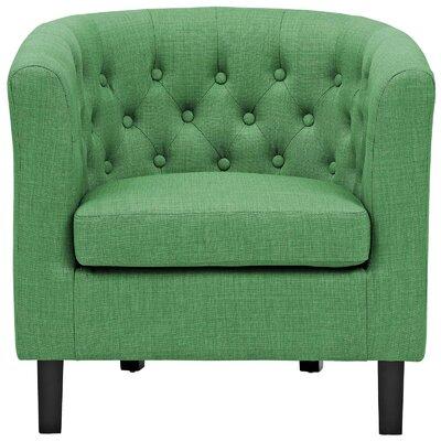 Birnbaum Chesterfield Chair Upholstery: Green