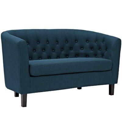 Birnbaum Loveseat Upholstery: Azure