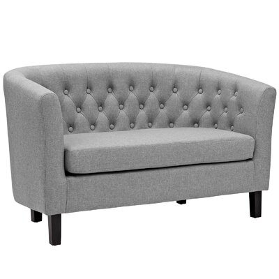 Birnbaum Loveseat Upholstery: Light Gray