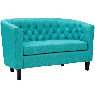 Ziaa Loveseat Upholstery: Pure Water