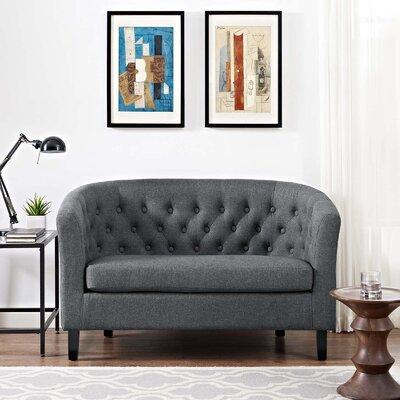Birnbaum Loveseat Upholstery: Gray