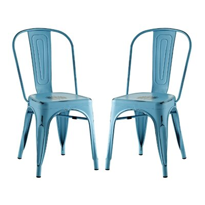 Ashlyn Dining Side Chair Finish: Turquoise
