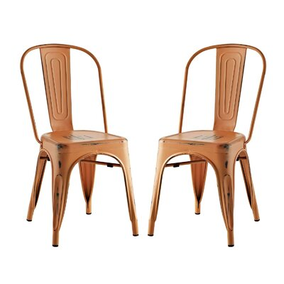 Ashlyn Dining Side Chair Finish: Orange