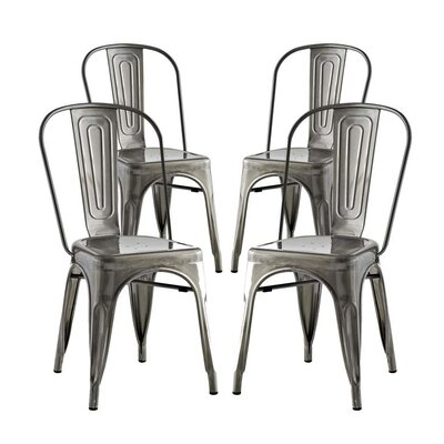 Ashlyn Dining Side Chair Finish: Gunmetal
