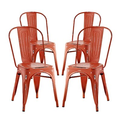 Ashlyn Dining Side Chair Finish: Red