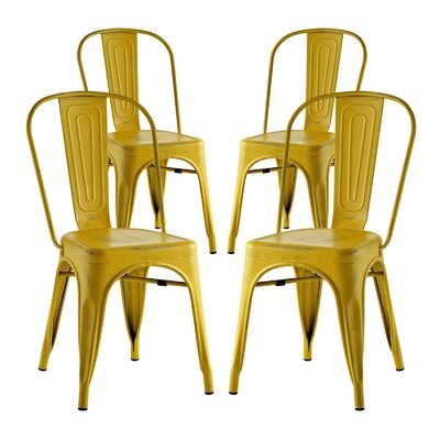 Ashlyn Dining Side Chair Finish: Yellow