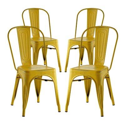 Ashlyn Dining Side Chair Finish: Yellow