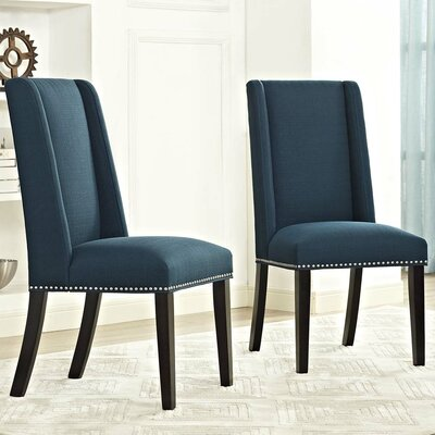 Florinda Parsons Chair Upholstery: Azure