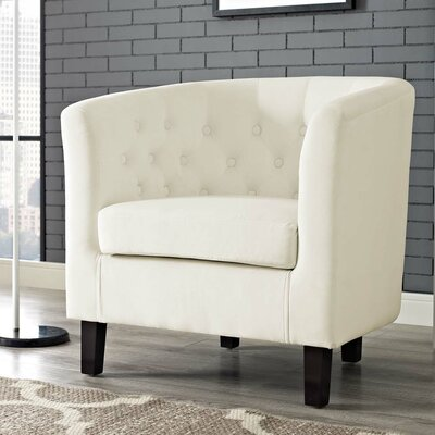 Ziaa Chesterfield Chair Upholstery: Ivory