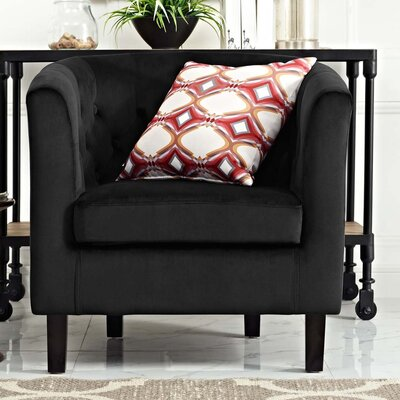 Ziaa Chesterfield Chair Upholstery: Black