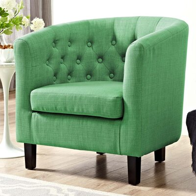 Ziaa Chesterfield Chair Upholstery: Green