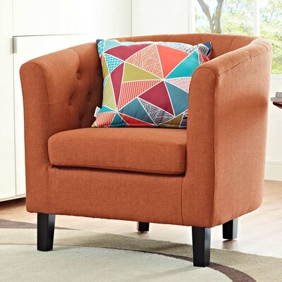 Ziaa Chesterfield Chair Upholstery: Orange
