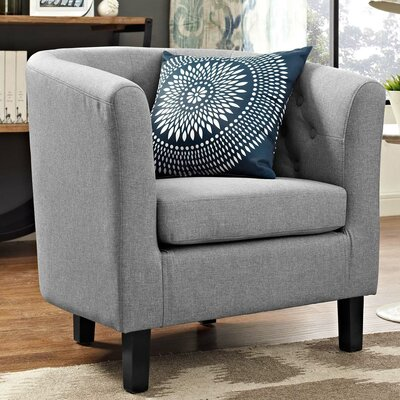 Ziaa Chesterfield Chair Upholstery: Light Gray