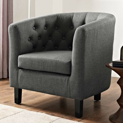 Ziaa Chesterfield Chair Upholstery: Dark Gray