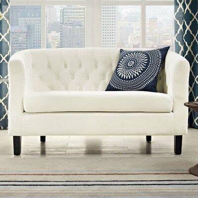 Birnbaum Loveseat Upholstery: Ivory