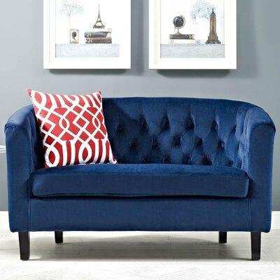 Birnbaum Loveseat Upholstery: Navy