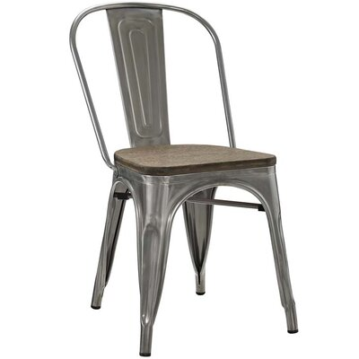 Ashlyn Solid Wood Dining Chair Color: Gunmetal