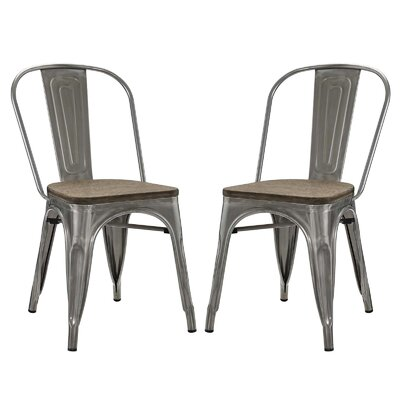 Ashlyn Dining Side Chair Color: Gun Metal