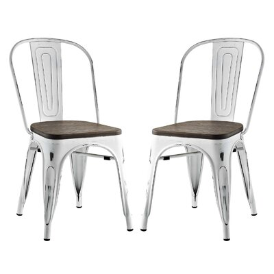 Ashlyn Dining Side Chair Color: White