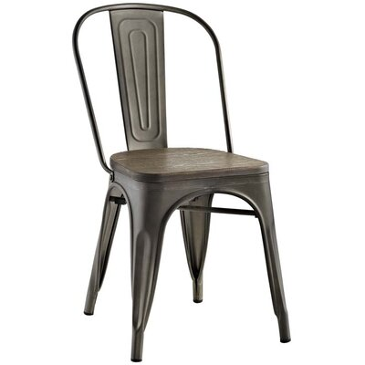 Ashlyn Solid Wood Dining Chair Color: Brown