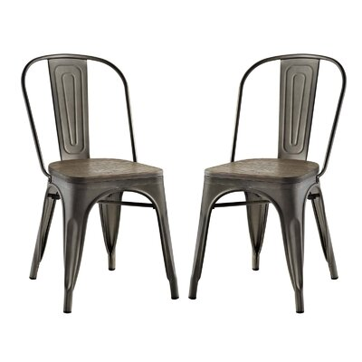 Ashlyn Dining Side Chair Color: Brown